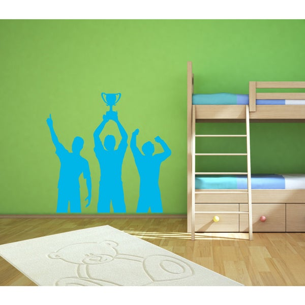 Cup winner Wall Art Sticker Decal Blue