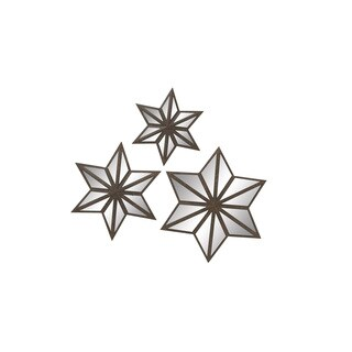 Metal Mirror Star (Set of 3) 16-inch/ 20-inch/ 24-inch