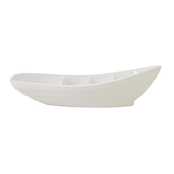 Ceramic Boat Dish 23-inch x 6-inch