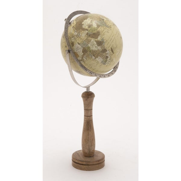 World Globe on Wooden Stand Small