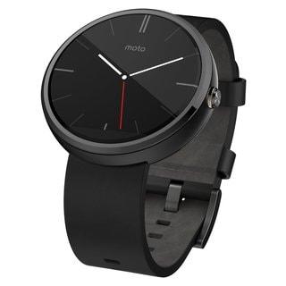 Motorola Moto 360 Smart Watch - Black Leather