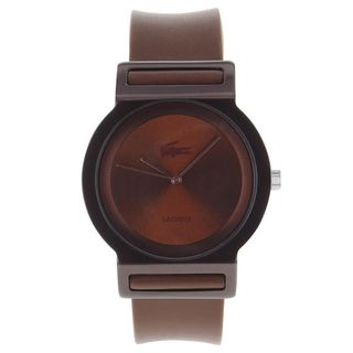Lacoste Unisex 2000700 'Tokyo' Brown Silicone Watch