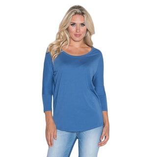 Beam Women's Blue Slub T-shirt
