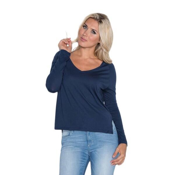 Beam Women's Long-sleeve T-shirt Navy