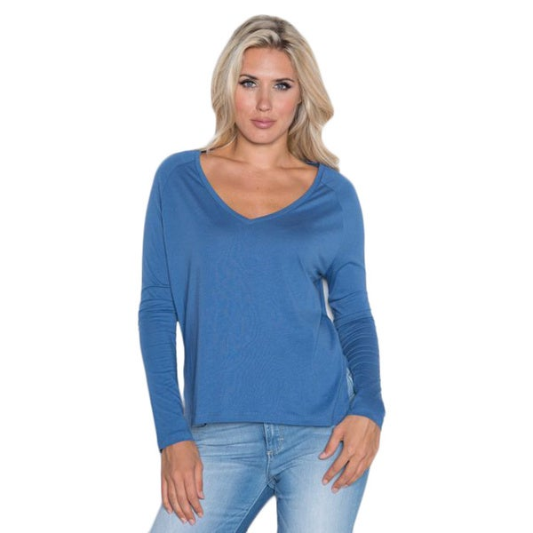 Beam Women's Medium Blue Long-sleeve T-shirt