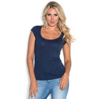 Beam Women's Scoop Neck T-shirt Navy