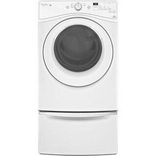 Whirlpool laundry pair with 4.2 cu ft washer and 7.4 cu ft electric dryer