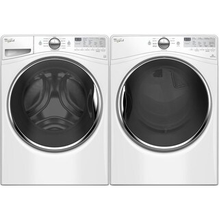 Whirlpool Laundry Pair with 4.2 Cubic Feet Front Load Washer and 7.4 Cubic Feet Electric Dryer