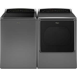 Whirlpool Cabrio Laundry Pair with 5.3 cu ft top load washer and 8.8 cu ft gas dryer