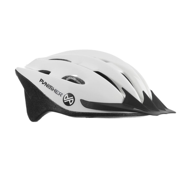 Punisher 18-Vent Adult Cycling Helmet, White, Ages 12+