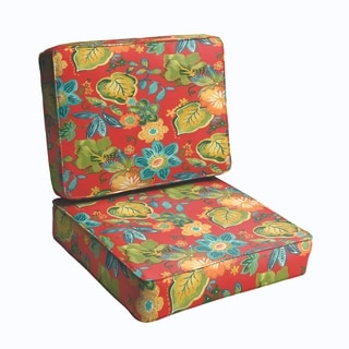 Red Tropical 2-piece Indoor/Outdoor Cushion Set