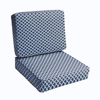 Navy Chainlink 2-piece Indoor/Outdoor Cushion Set