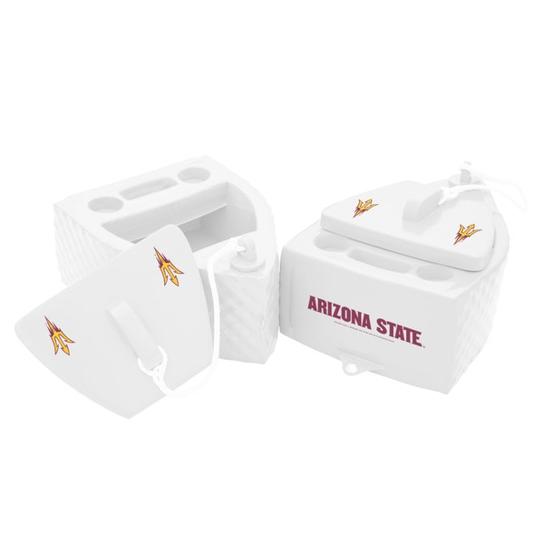 Texas Rec KOOLER FLOATING White Finish ARIZONA STATE Sun Devil