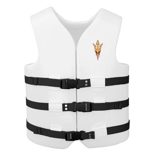 Texas Rec USCG Approved Adult Water Vest White Finish Arizona State Sun Devil