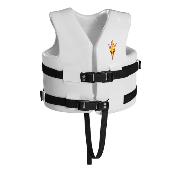 Texas Rec USCG Approved Child Water Vest White Finish Arizona State Sun Devil
