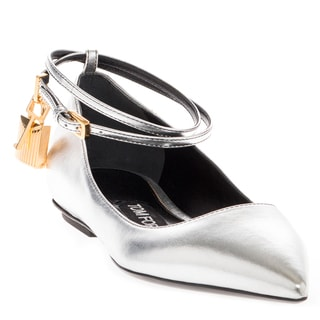 Tom Ford Metallic Leather Ballerina Flats with Lock