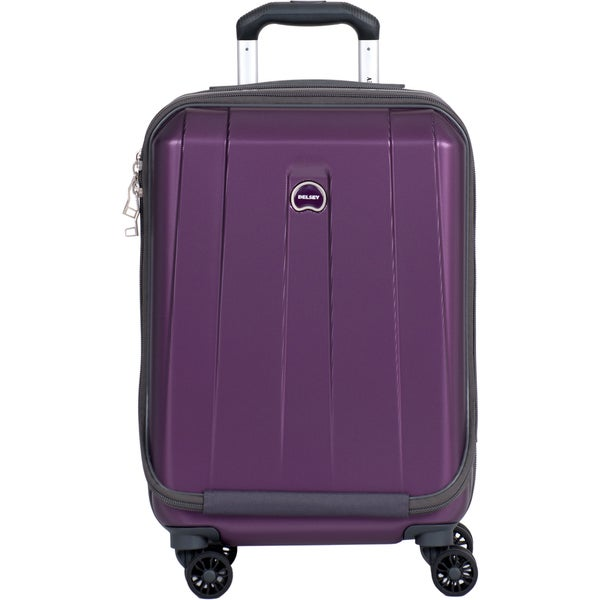 Delsey Helium Shadow 3.0 Purple 19-inch Expandable Hardside International Carry On Spinner Suiter Laptop Suitcase