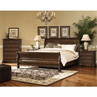 Hazelton Vintage Oak 4 Piece King Bedroom Set