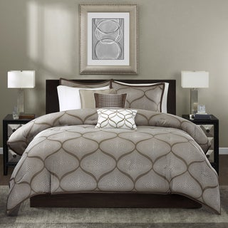 Madison Park Alandra Mocha 6-piece Duvet Cover Set