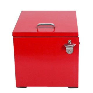 HIO 24 qt. Red Steel Retro-style Cooler Lunch Box