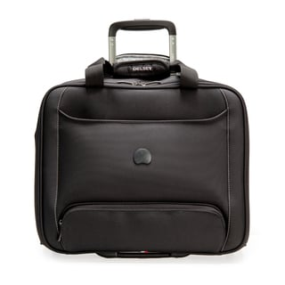 Delsey Chattilon Black Carry On Rolling 15.6-inch Laptop Tote Bag