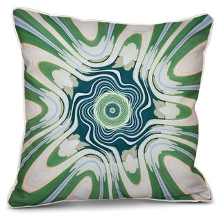 Psychedelic 70's Inside Out Designs Print 16 x 16-inch Pillow