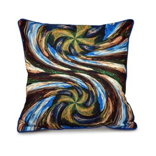 Spin Art Inside Out Designs Print 16 x 16-inch Pillow