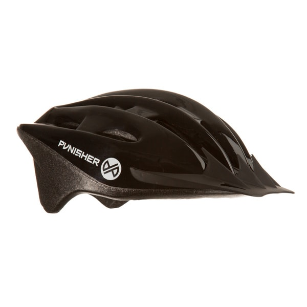 Punisher 18-Vent Adult Cycling Helmet, Black, Ages 12+