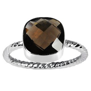 Orchid Jewelry 925 Sterling Silver Ring 2.00ct TGW Genuine Smoky Quartz