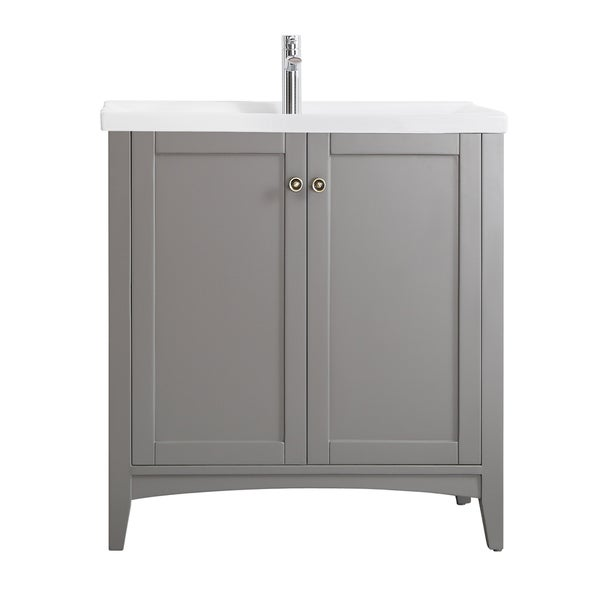 Asti Grey Carrara White Marble  Inch Single Vanity Free Shipping Today Overstock Com
