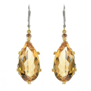 One-of-a-kind Michael Valitutti Elongated Citrine with Madeira Citrine Earrings