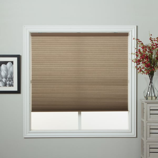 "Honeycomb Cell Light-filtering Cocoa Cordless Cellular Shade (35"" x 60"") (As Is Item) 18236626"