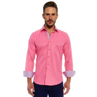 Azaro Uomo Men's Nitro Pink Button Down