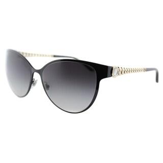 Bvlgari BV6070H 239/8G Black Metal Cat Eye Sunglasses Grey Gradient Lens