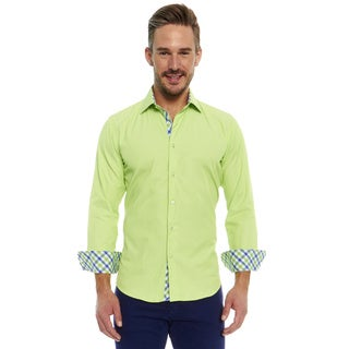 Azaro Uomo Men's Nitro Green Button Down