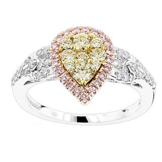Luxurman 14k Gold 7/8ct TDW Diamond Engagement Ring (SI1-SI2)