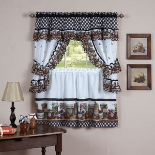 Mason Jars Tailored Topper with Valance
