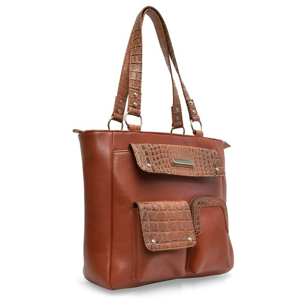 Sag Harbor Triple Play Vegan Leather Tote Bag