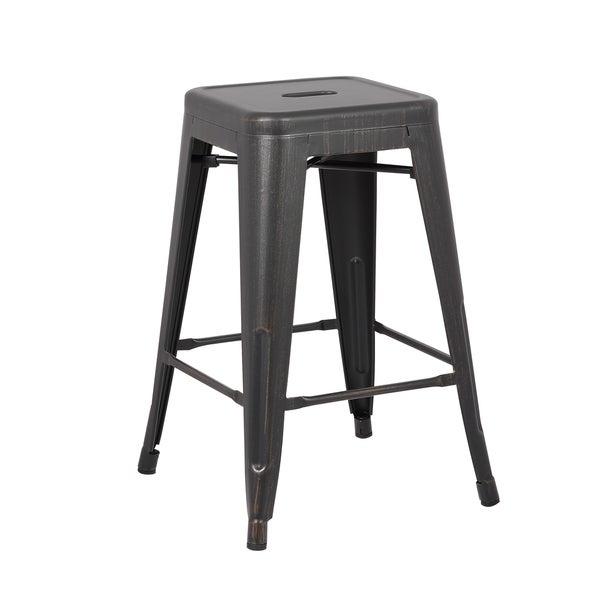 Steel 24 Inch Bar Stool Set Of 2 18638835 Overstock