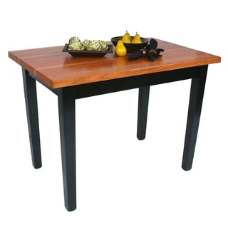 John Boos Cherry Finish Butcher Block Table and Knife Set