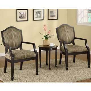 Cambridge 3 Piece Accent Chairs and Table Set