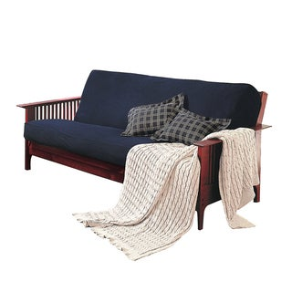 Brushed Cotton Rich Twill Futon Cover in Navy Blue