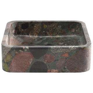 Roni Multi Color Square Stone Sink
