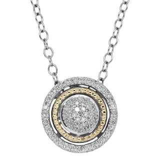 1/10ct TDW Sterling Silver and 14k Gold Pendant