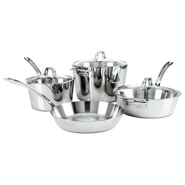 Viking Contemporary 7 Piece Cookware Set Stainless Steel