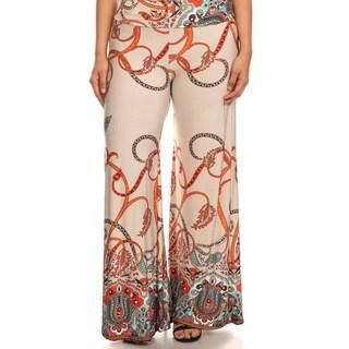 Women's Plus Size Paisley Pants