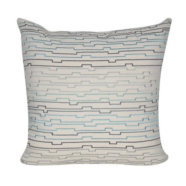 Loom and Mill 22 x 22-inch Digital Lines Decorative Pillow 18239941