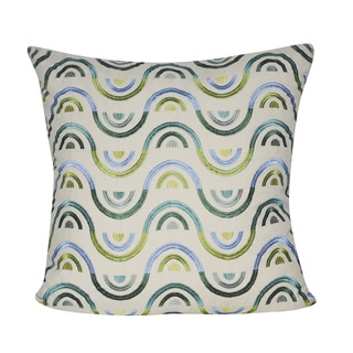 Loom and Mill 22 x 22-inch Beaded Chevron Decorative Pillow