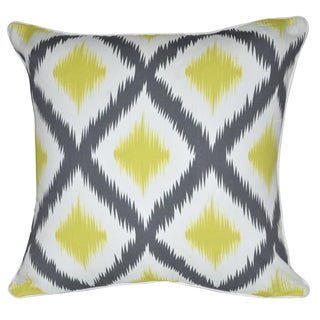 Loom and Mill 18 x 18-inch Yellow Ikat Decorative Pillow