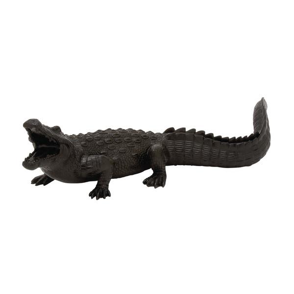 Polyresin Crocodile 25-inch, 7-inch